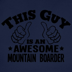 this guy is an awesome mountain boarder - Baseball Cap