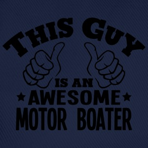 this guy is an awesome motor boater - Baseball Cap