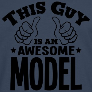 this guy is an awesome model - Men's Premium Longsleeve Shirt