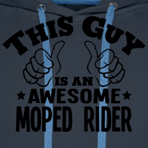 this guy is an awesome moped rider - Men's Premium Hoodie