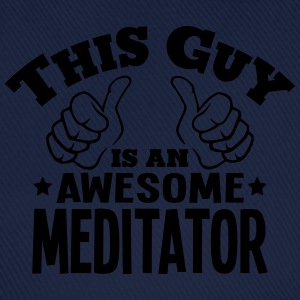 this guy is an awesome meditator - Baseball Cap