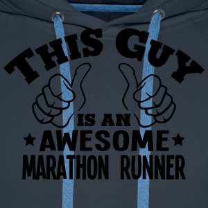 this guy is an awesome marathon runner - Men's Premium Hoodie