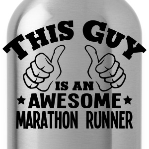 this guy is an awesome marathon runner - Water Bottle