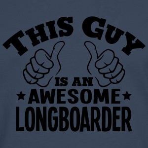 this guy is an awesome longboarder - Men's Premium Longsleeve Shirt