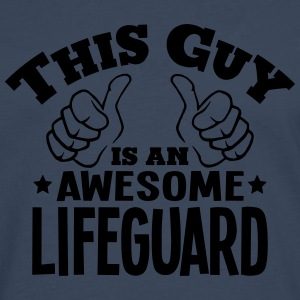 this guy is an awesome lifeguard - Men's Premium Longsleeve Shirt