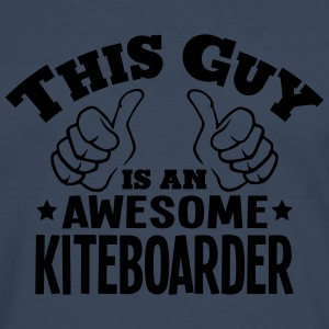 this guy is an awesome kiteboarder - Men's Premium Longsleeve Shirt