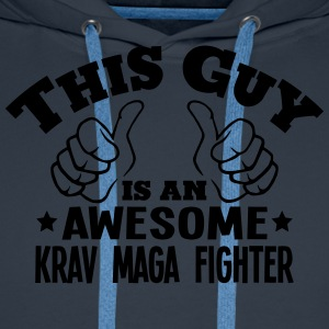 this guy is an awesome krav maga fighter - Men's Premium Hoodie