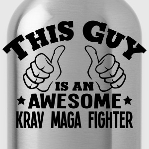this guy is an awesome krav maga fighter - Water Bottle