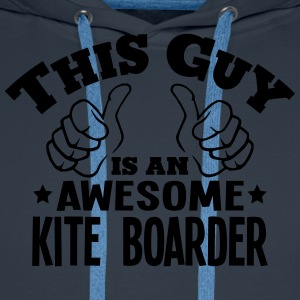 this guy is an awesome kite boarder - Men's Premium Hoodie