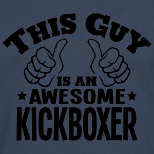this guy is an awesome kickboxer - Men's Premium Longsleeve Shirt