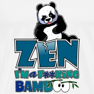 Coasters Bad panda, be zen or not - Men's Premium T-Shirt