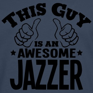this guy is an awesome jazzer - Men's Premium Longsleeve Shirt