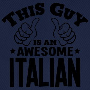 this guy is an awesome italian - Baseball Cap