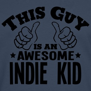 this guy is an awesome indie kid - Men's Premium Longsleeve Shirt