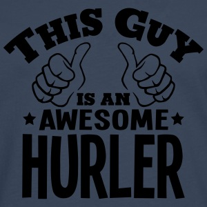 this guy is an awesome hurler - Men's Premium Longsleeve Shirt