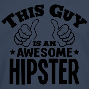 this guy is an awesome hipster - Men's Premium Longsleeve Shirt