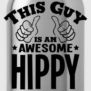 this guy is an awesome hippy - Water Bottle