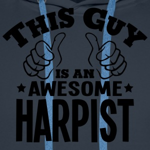 this guy is an awesome harpist - Men's Premium Hoodie