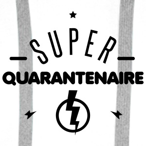 super quarantenaire Badges - Sweat-shirt à capuche Premium pour hommes