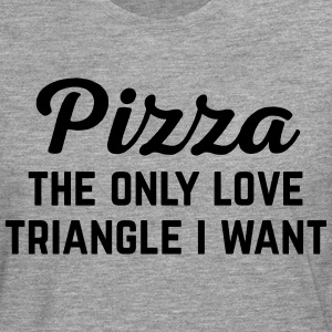 Pizza Love Triangle Funny Quote Sudaderas - Camiseta de manga larga premium hombre