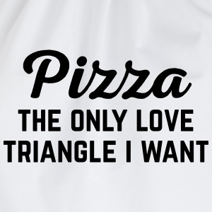 Pizza Love Triangle Funny Quote Kookschorten - Gymtas