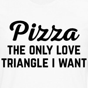 Pizza Love Triangle Funny Quote Kookschorten - Mannen Premium shirt met lange mouwen