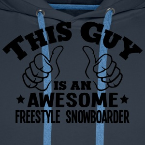 this guy is an awesome freestyle snowboa - Men's Premium Hoodie