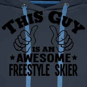 this guy is an awesome freestyle skier - Men's Premium Hoodie