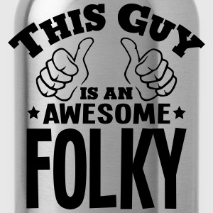 this guy is an awesome folky - Water Bottle