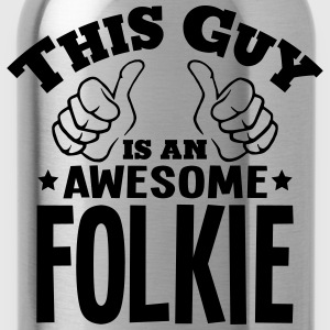 this guy is an awesome folkie - Water Bottle