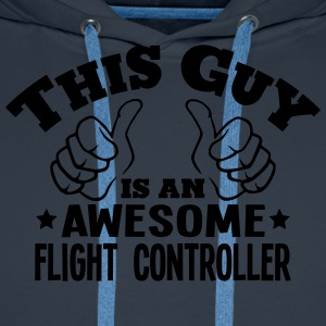 this guy is an awesome flight controller - Men's Premium Hoodie
