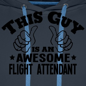 this guy is an awesome flight attendant - Men's Premium Hoodie