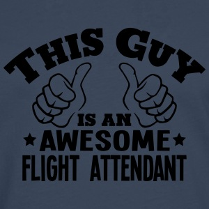 this guy is an awesome flight attendant - Men's Premium Longsleeve Shirt