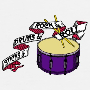 Sticks+Drums+Rock+Roll Part 1 - Männer Premium T-Shirt