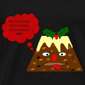 Grumpy Christmas Pudding - Men's Premium T-Shirt