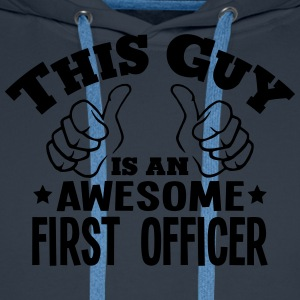 this guy is an awesome first officer - Men's Premium Hoodie