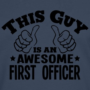 this guy is an awesome first officer - Men's Premium Longsleeve Shirt