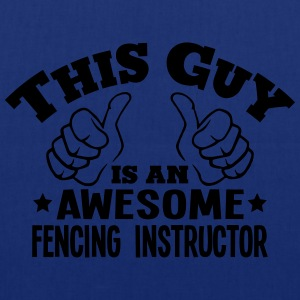 this guy is an awesome fencing instructo - Tote Bag