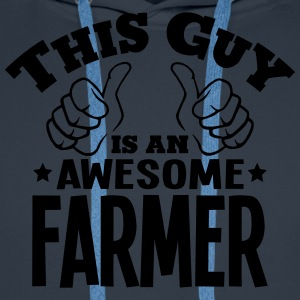 this guy is an awesome farmer - Men's Premium Hoodie
