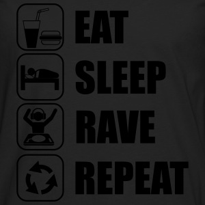 Eat,sleep,rave,repeat  - Premium langermet T-skjorte for menn