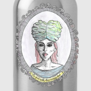 the girl-crazy hat-brain T-Shirts - Trinkflasche