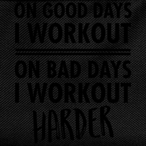 On Bad Days I Workout Harder... T-Shirts - Kids' Backpack