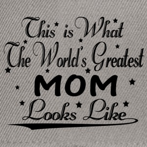Menta jaspeado World's Greatest Mom... Camisetas - Gorra Snapback