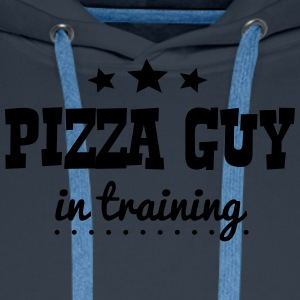 pizza guy in training - Men's Premium Hoodie
