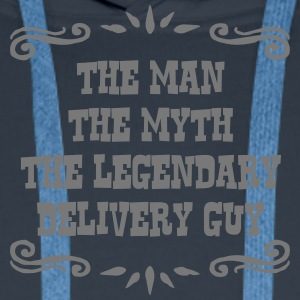 delivery guy the man myth legendary lege - Men's Premium Hoodie