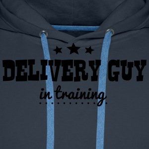 delivery guy in training - Sweat-shirt à capuche Premium pour hommes
