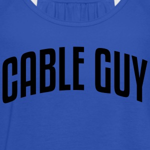 cable guy stylish arched text logo - Women's Tank Top by Bella