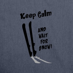 Keep Calm & wait for Snow T-Shirts - Schultertasche aus Recycling-Material