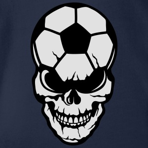 football soccer skull balloon 8 Shirts - Organic Short-sleeved Baby Bodysuit