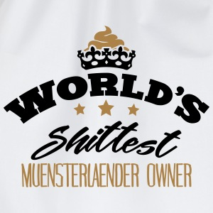 worlds shittest muensterlaender owner - Drawstring Bag